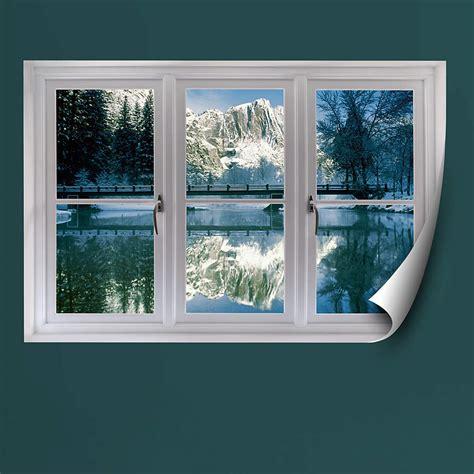 winter  yosemite instant window wall decal shop