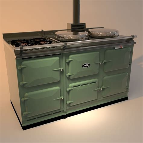 aga stove with gas 3d model obj 3ds 3dm dwg cgtrader