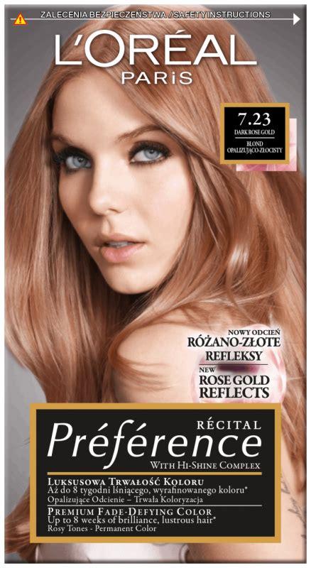 loreal recital preference  dark rose gold