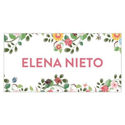 pretty floral border themed  label pepa prints