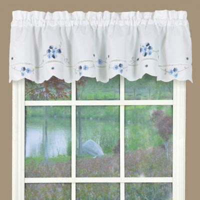 White And Blue Window Valances by Buy Kitchen Valances And Swags From Bed Bath Beyond