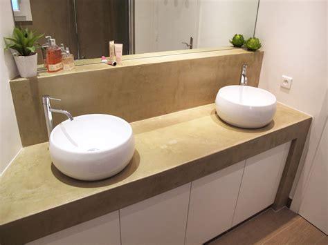 béton ciré plan de travail cuisine sur carrelage salle de bain béton ciré et carrelage parquet