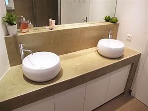 cuisine plan pour poser vasque salle de bain plan poser With salle de bain avec vasque en pierre