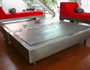 Table Basse En Beton : table beton com la table basse b ton sur roulettes ~ Teatrodelosmanantiales.com Idées de Décoration