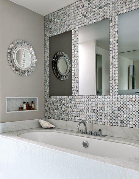 mosaique grise salle de bain deco salle de bain blanche et grise