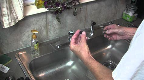 moen kitchen faucet broken lever handle repair youtube