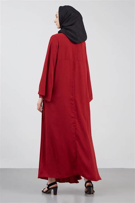 sell zafa dress maroon dresses  jumpsuit hijabenkacom