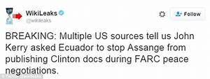 Wikileaks accuses John Kerry of having Julian Assange's ...