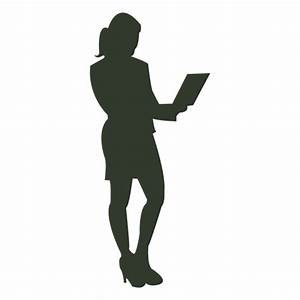 Working woman silhouette notebook - Transparent PNG & SVG ...