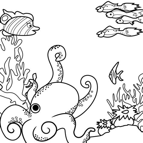 Coloring The Sea by The Sea Coloring Pages Coloringsuite