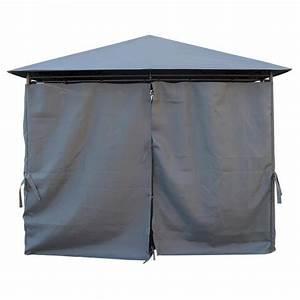 Tente De Jardin Pas Cher : kaligagan tente de jardin pergola 3x3m gris anthracite ~ Dailycaller-alerts.com Idées de Décoration