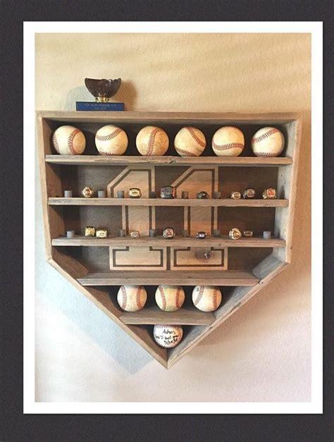 shelves  ring pegs baseball display rack baseball