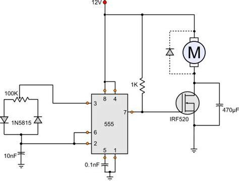 Pwm Based Speed Controller Circuit Contradicting