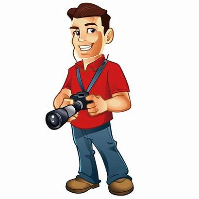 Cartoon Photographer Clip Male Clipart Fotografer Animasi
