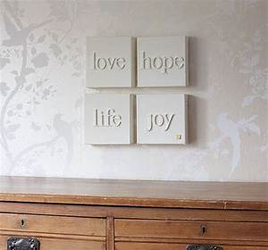 Wooden letters on canvas decorating pinterest for Wooden letters on canvas