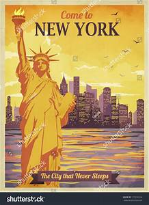 New York Poster : travel new york poster vintagestyle advertisement stock vector 175295234 shutterstock ~ Orissabook.com Haus und Dekorationen