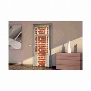 Mur Trompe L Oeil : stickers trompe l 39 oeil porte mur de brique tatoutex stickers ~ Melissatoandfro.com Idées de Décoration