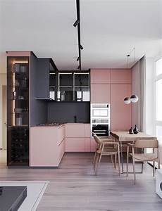 51, inspirational, pink, kitchens, with, tips, , u0026, accessories, to, help, you, design, yours