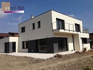 maison cubique arras moderne esprit plan les batiments With construire une maison moderne