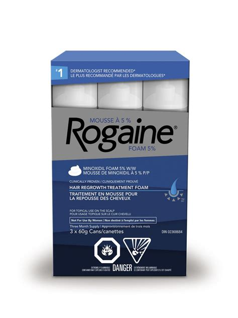 Men's Rogaine 5% Minoxidil Foam – Hair Loss & Thinning