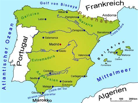spanien landkarte laender spanien goruma