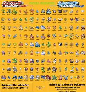 ruby pokemon list