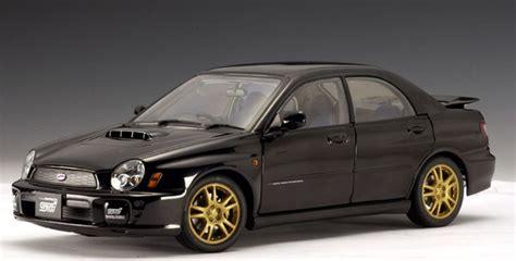 subaru autoart autoart 2001 subaru new age impreza wrx sti black