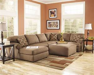 ashley furniture living room fusion ashley cowan mocha With ashley furniture cowan 3 piece sectional sofa in mocha