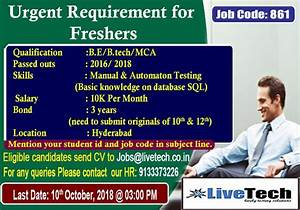 Urgent Requirement For Freshers  Job Code