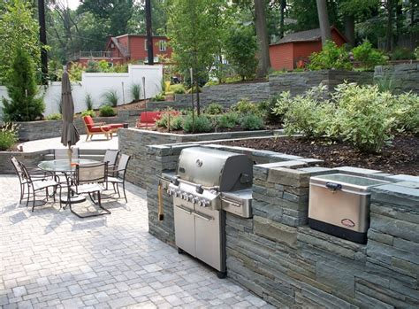 stone veneer  outdoor kitchens landscaping network