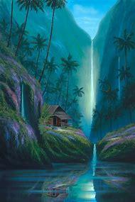 Tropical Waterfall Paintings