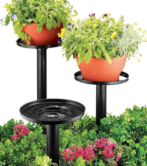 Patio Plant Stands Tiered by Kimball Tiered Outdoor Plant Stands Set Of 3 Ebay