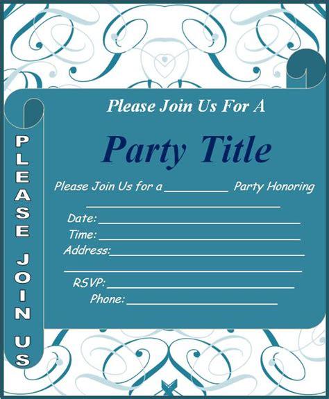 event invitation format  word templates