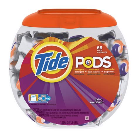 laundry detergent pods shop tide pods 66 count spring meadow laundry detergent at lowes com
