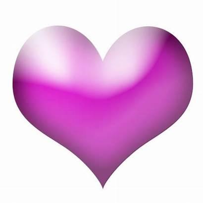 Heart Purple Clipart Pink Clip Magenta Cliparts