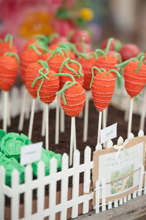 carrot cake pops peter rabbit  birthday party