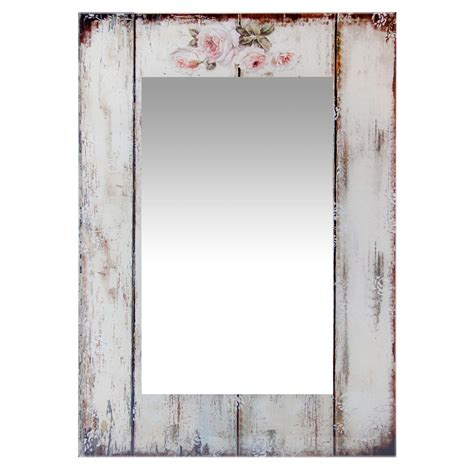 target shabby chic mirror shabby chic picket fence wall mirror clock by room