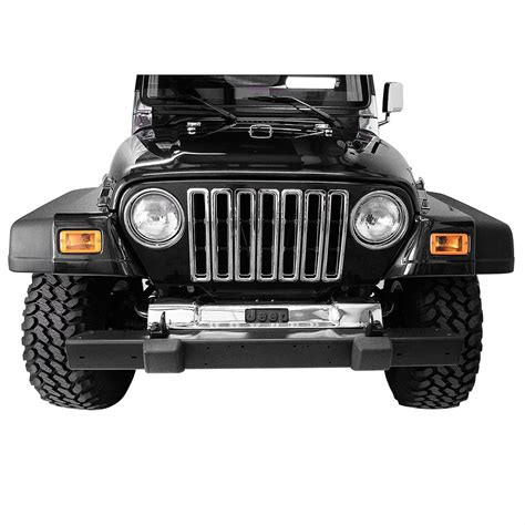 chrome jeep accessories grille inserts chrome 97 06 jeep wrangler tj 11306 02