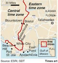 Florida Time Zones Map Topographic Map - Eastern us time zone map