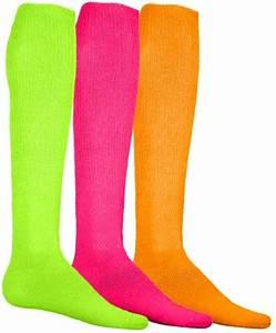 Neon Solid Knee High Socks