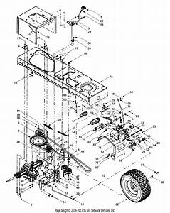 Mtd 13au608h016  2000  Parts Diagram For Drive System
