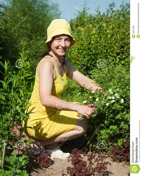 Woman Gardening Royalty Free Stock Photography Image