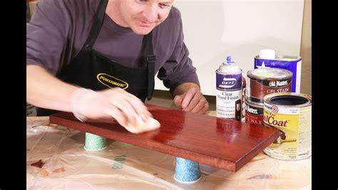finishing mahogany  tips  beautiful color