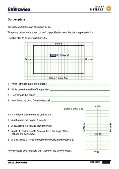 scale drawings worksheet  grade   geography