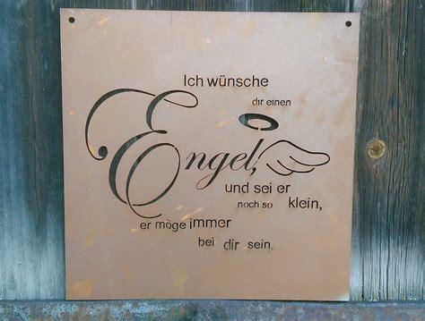 Edelrost Tafel Engel Spruch Garten Metall Tafel Rost