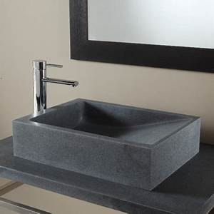Lavabo En Pierre Naturelle : lavabos et vasques au style moderne et design pour votre ~ Premium-room.com Idées de Décoration