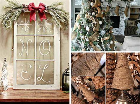 easy diy christmas decoration ideas rustic style
