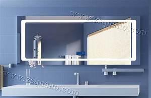 prix bluetooth retro eclaire miroir avec led mirroir de With porte d entrée alu avec miroir rétro éclairé salle de bain