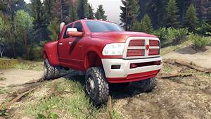 Dodge Ram 3500 Dually V1 1 Red For Spin Tires