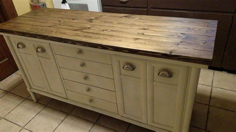 Hometalk   Old Buffet to Kitchen Island!